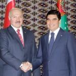 Berdymuhamedov and Lukashenko - Summit talks