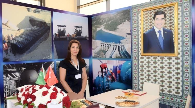 Nina Ibragimova - Eser Holding stall - Turkmen Energy exhibition - Ashgabat - 12 September 2015