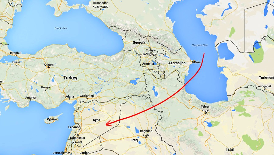 Kalibr flew across Iran and Iraq to hit targets in Syria