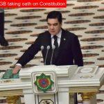 President Berdymuhamedov takes oath for third term in office