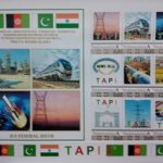Turkmenistan commemorates in stamps the launch of regional infrastructure projects