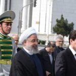 Президент Ирана Рухани с визитом в Туркменистане
